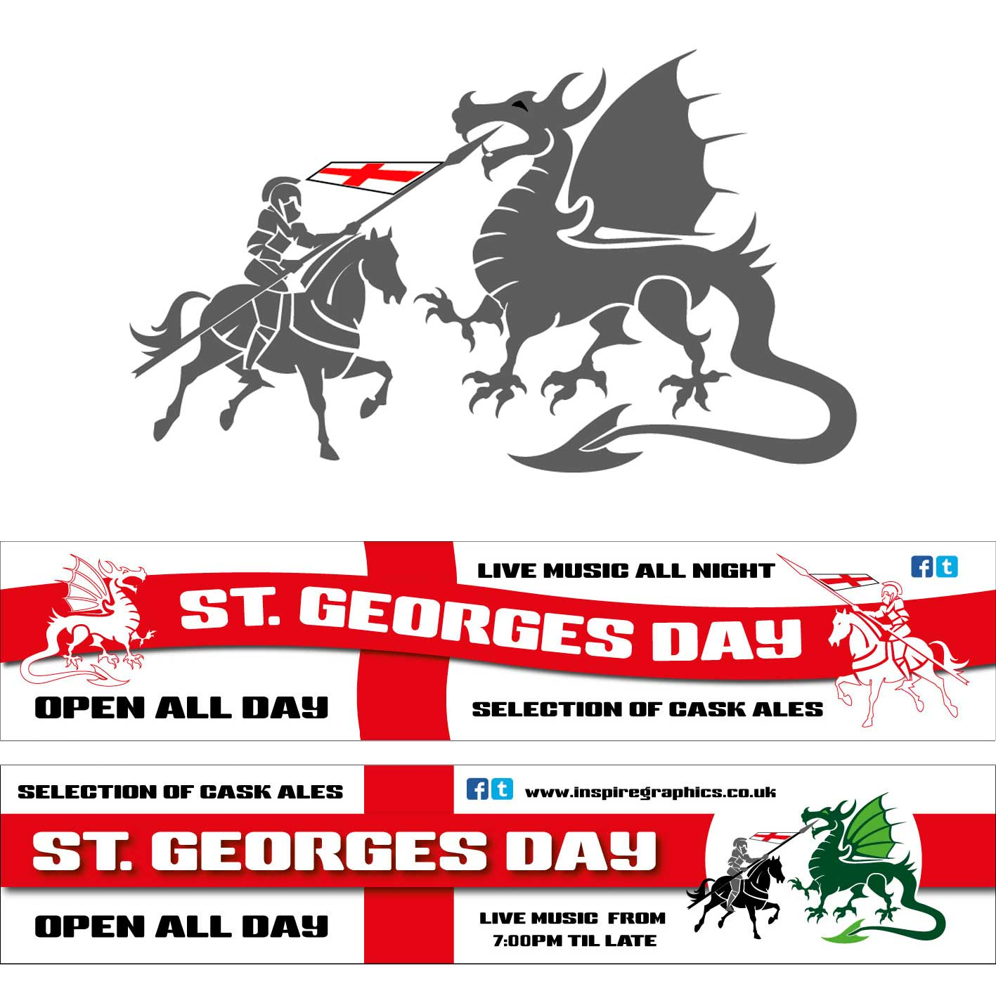 St Georges Day Banners
